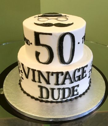 Vintage Dude Tiered Cake