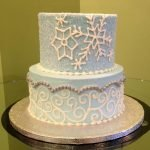 Winter Tiered Cake
