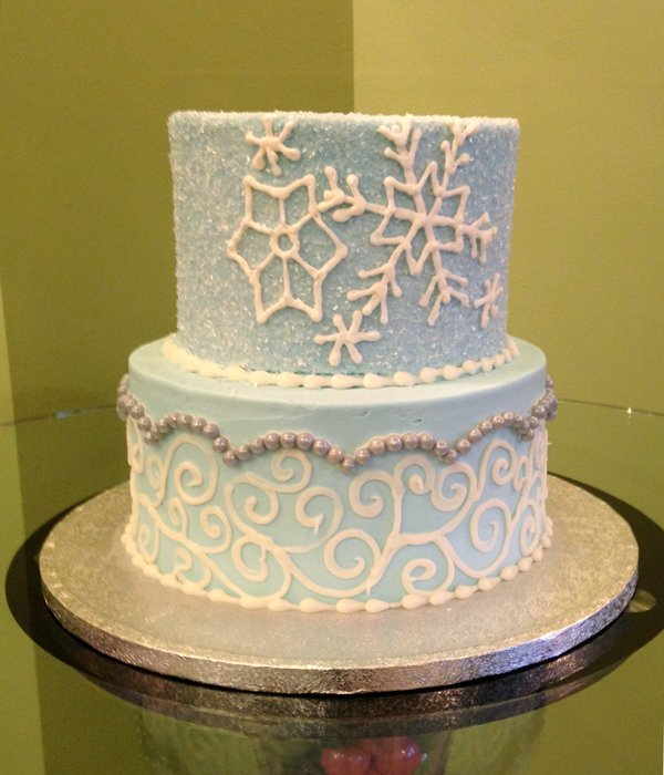 Winter Tiered Cake
