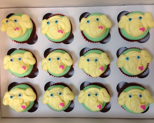 Elephant Cupcakes - Yellow