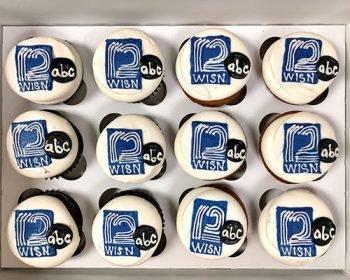 Company Logo Cupcakes - WISN12 ABC