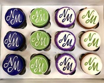 Company Logo Cupcakes - Natasha Misra Law