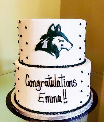 Graduation Logo Tiered Cake - Nathan Hale High School