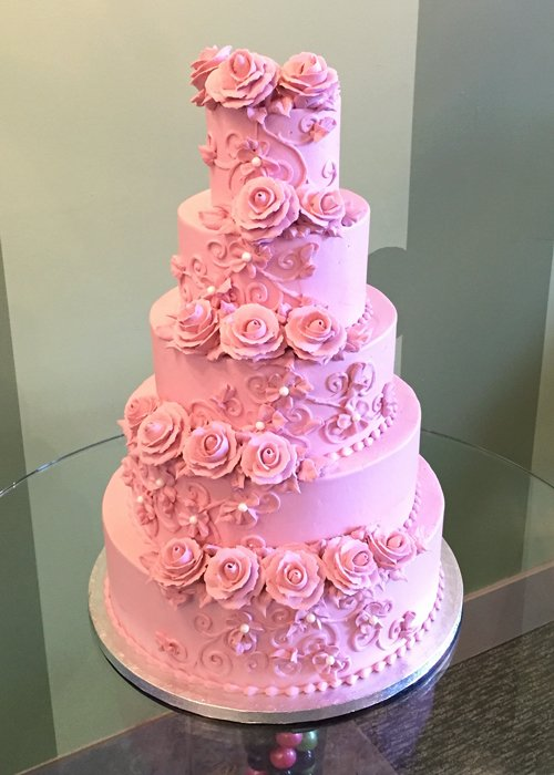 Charlotte Tiered Cake - Pink