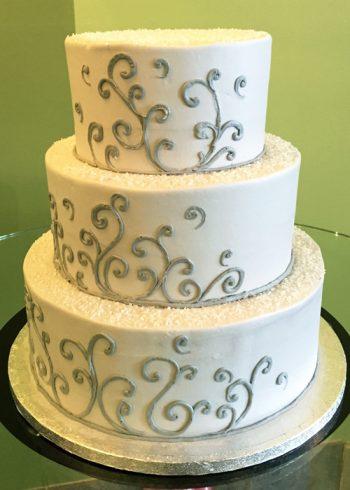 Devon Wedding Cake - Grey