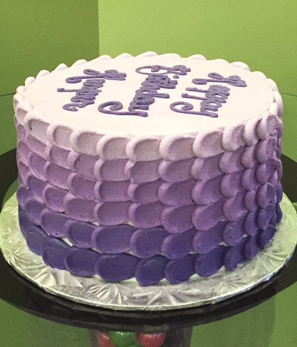 Nia Ombre Layer Cake - Purple Side