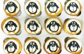 Penguin Decorated Cupcakes