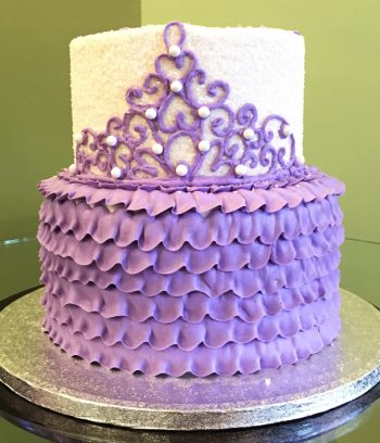 Princess Tiara Tiered Cake - Purple
