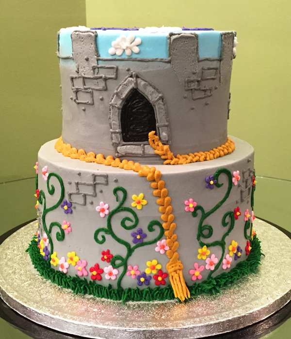 Rapunzel Castle Tiered Cake