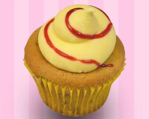 Raspberry Lemon Cupcake