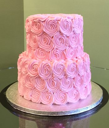 Rosette Tiered Cake - Pink