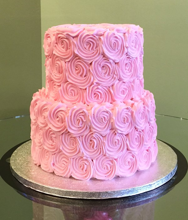 Rosette Tiered Cake Classy Girl Cupcakes
