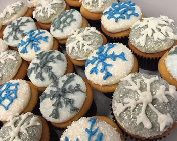 Snowflake Cupcakes - Blue & Silver