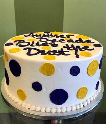 Alice Layer Cake - Purple & Yellow