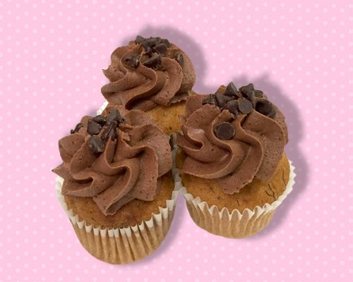 Banana Chocolate Chip Mini Cupcake