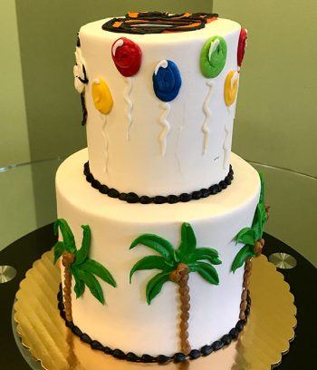 Beer in Paradise Tiered Cake - Side