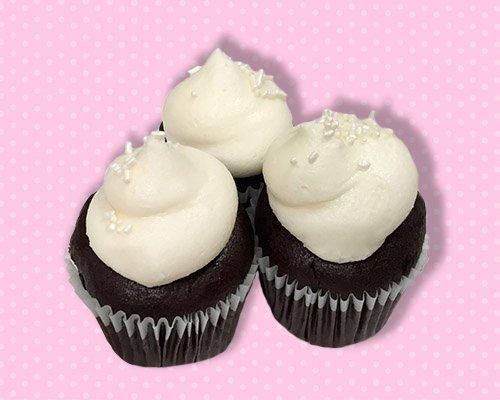 Black & White Mini Cupcake