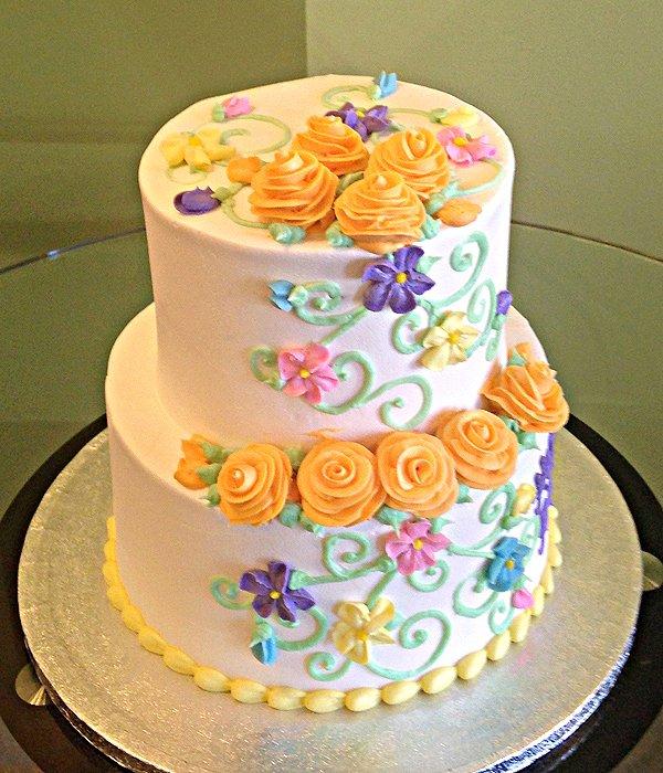 Charlotte Tiered Cake - Orange