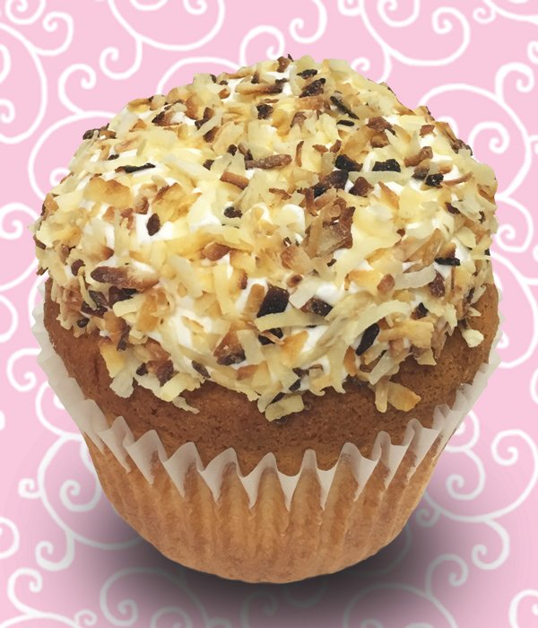 Coconut Bombe Jumbo Filled Cupcake
