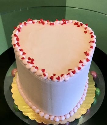 Conversation Heart Layer Cake - Pink