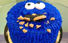 Cookie Monster Layer Cake
