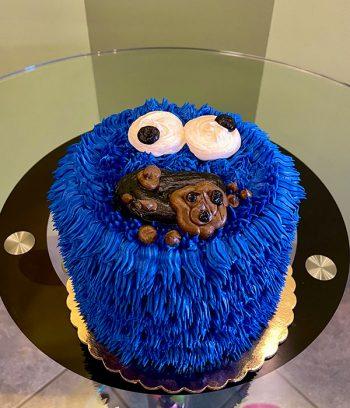 Cookie Monster Layer Cake - Gluten Free Vegan