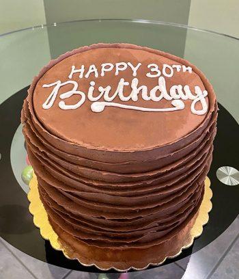 Country Ribbon Layer Cake - Chocolate