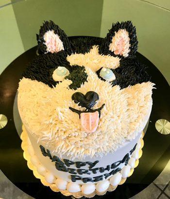 Dog Layer Cake - Husky