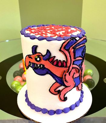 Dragon Layer Cake - 4 Inch