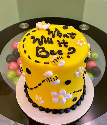 Gender Reveal What Will it Bee Layer Cake - 4 Inch