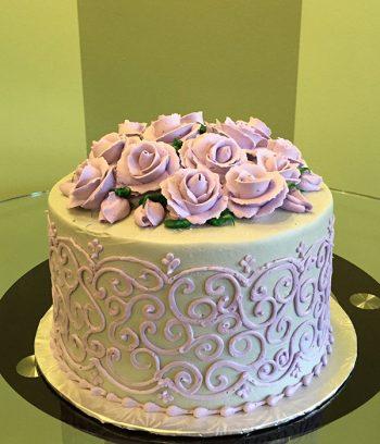 Grace Layer Cake - Grey & Lavender