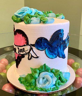 Kat Tattoo Layer Cake - Blue