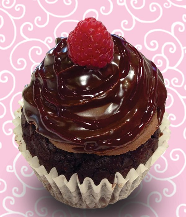 Raspberry Truffle Jumbo Filled Cupcake