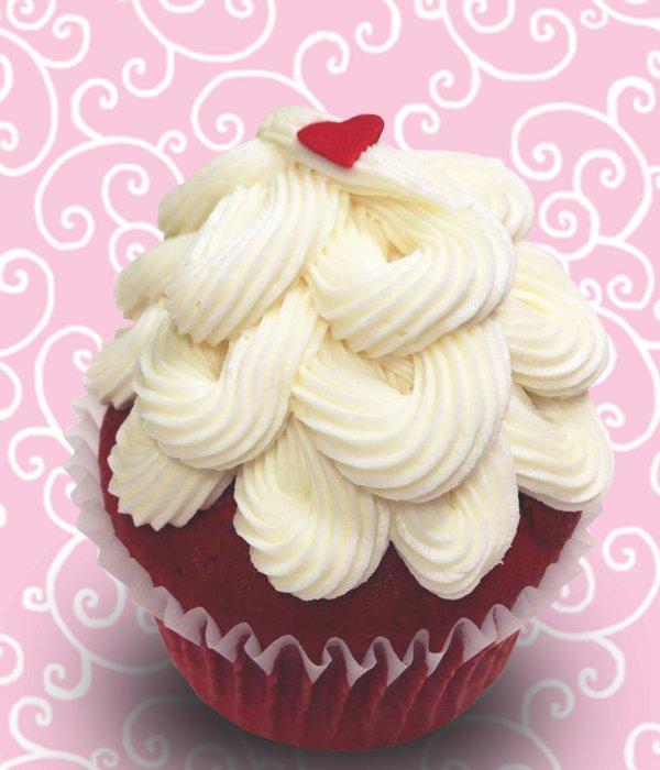 Red Velvet Jumbo Filled Cupcake