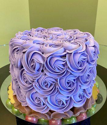 Rosette Layer Cake - Purple