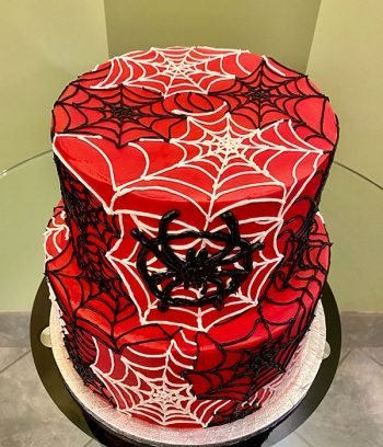 Spiderweb Tiered Cake - Top