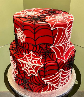 Spiderweb Tiered Cake - Side