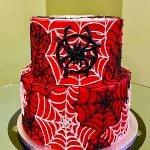 Spiderweb Tiered Cake