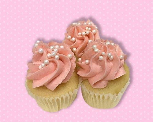 Strawberry Champagne Mini Cupcake