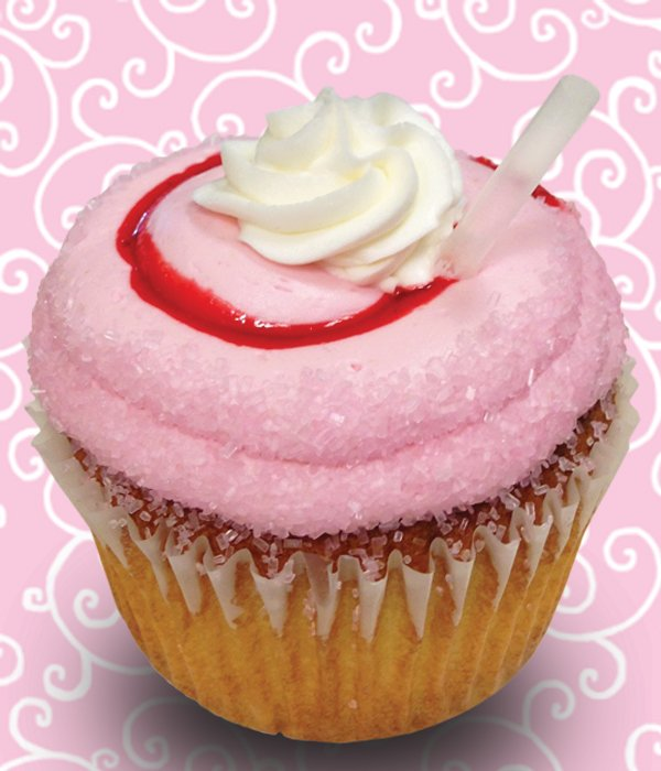 Strawberry Malt Jumbo Filled Cupcake
