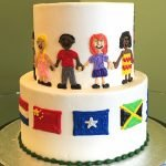 We Are The World Tiered Cake