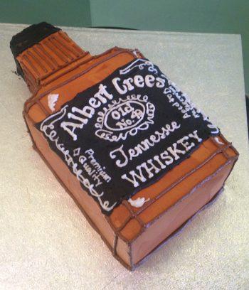 Whiskey Bottle Shaped Cake - Jack Daniel's