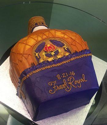 Whiskey Bottle Shaped Cake - Crown Royale