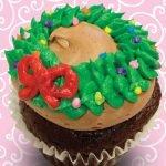 Christmas Wreath Jumbo Filled Cupcake