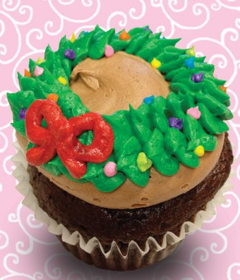 Christmas Wreath Jumbo Filled Cupcake