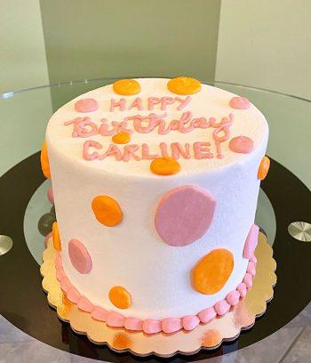 Alice Layer Cake - Pink & Orange