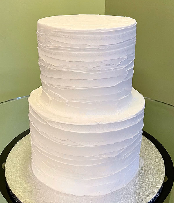 Birch Bark Tiered Cake