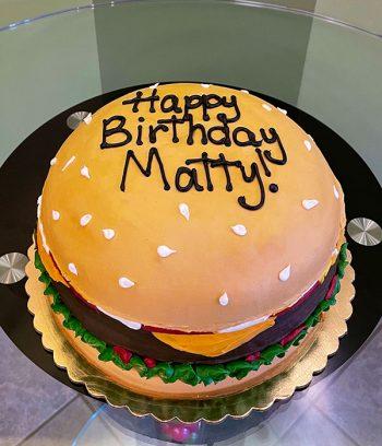 Cheeseburger Layer Cake - Top
