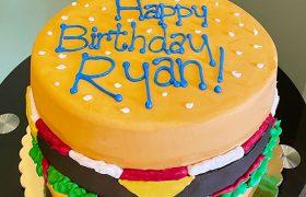 Cheeseburger Layer Cake
