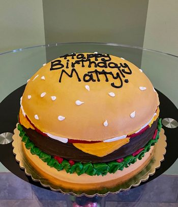 Cheeseburger Layer Cake - Side